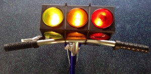 Glowing Traffic Light on Bike