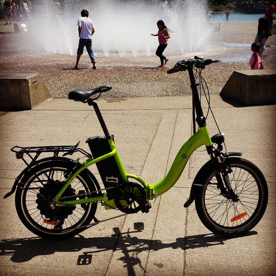 Green Microcycle Plus Minus An Electric Bike Amp Pedal