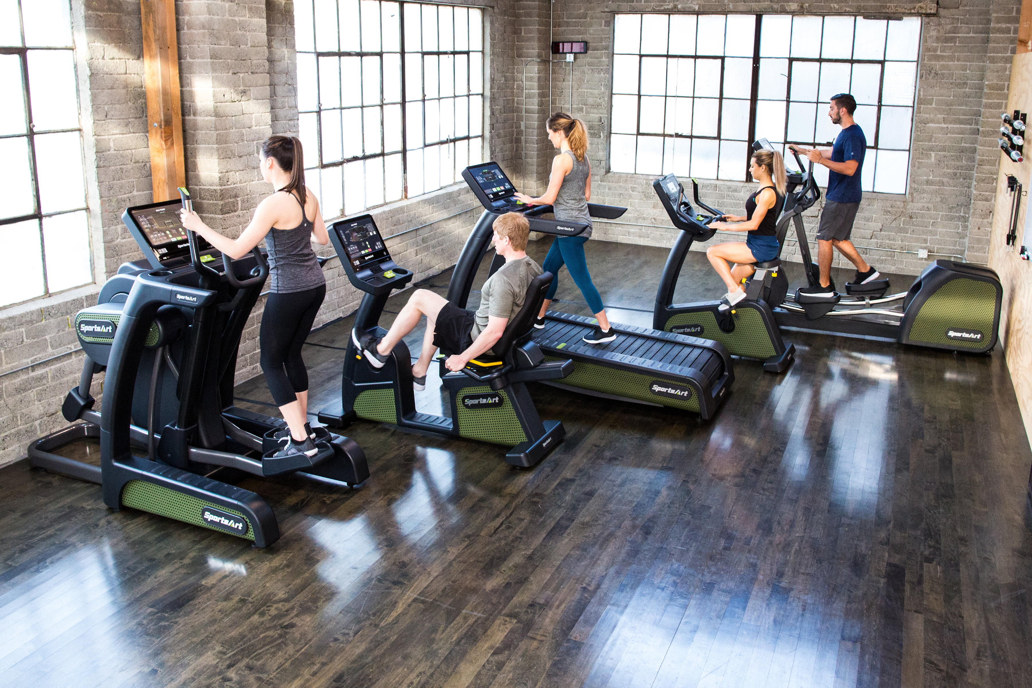Electricity generating gym equipment